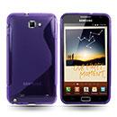 Custodia Samsung i9220 Galaxy Note S-Line Silicone Bumper - Porpora