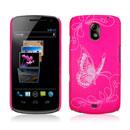 Custodia Samsung i9250 Galaxy Nexus Prime Farfalla Plastica Cover Rigida - Fucsia