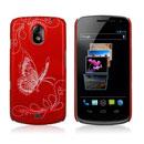 Custodia Samsung i9250 Galaxy Nexus Prime Farfalla Plastica Cover Rigida - Rosso