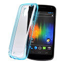 Custodia Samsung i9250 Galaxy Nexus Prime Silicone Trasparente Case - Blu