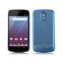 Custodia Samsung i9250 Galaxy Nexus Prime Ultrasottile Plastica Cover Rigida Guscio - Blu
