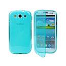 Custodia Samsung i9300 Galaxy S3 S-Line Titolare dello Stand Bumper - Blu