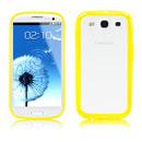 Custodia Samsung i9300 Galaxy S3 Silicone Trasparente Case - Giallo