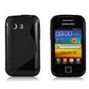 Custodia Samsung S5360 Galaxy Y S-Line Silicone Bumper - Nero