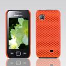 Custodia Samsung S5750 Wave 575 Rete Cover Rigida Guscio - Arancione