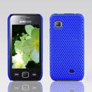 Custodia Samsung S5750 Wave 575 Rete Cover Rigida Guscio - Blu