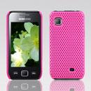 Custodia Samsung S5750 Wave 575 Rete Cover Rigida Guscio - Fucsia
