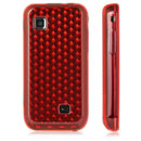 Custodia Samsung S5750 Wave 575 TPU Diamante Silicone Case - Rosso