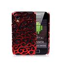 Custodia Samsung S5830 Galaxy Ace Metal Rete Cover Rigida Guscio - Rosso