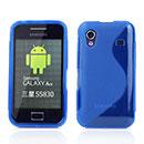 Custodia Samsung S5830 Galaxy Ace S-Line Silicone Bumper - Blu