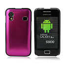 Custodia Samsung S5839i Galaxy Ace Alluminio Metal Plated Cover Case - Fucsia