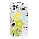 Custodia Samsung S5839i Galaxy Ace Fiori Bling Cover Rigida - Giallo