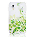 Custodia Samsung S5839i Galaxy Ace Fiori Bling Cover Rigida - Verde