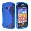 Custodia Samsung S6102 Galaxy Y Duos S-Line Silicone Bumper - Blu