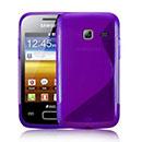 Custodia Samsung S6102 Galaxy Y Duos S-Line Silicone Bumper - Porpora