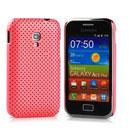 Custodia Samsung S7500 Galaxy Ace Plus Rete Cover Rigida Guscio - Rosa
