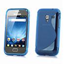 Custodia Samsung S7500 Galaxy Ace Plus S-Line Silicone Bumper - Blu