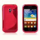 Custodia Samsung S7500 Galaxy Ace Plus S-Line Silicone Bumper - Rosso