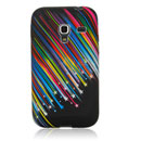 Custodia Samsung S7500 Galaxy Ace Plus Stars Silicone Gel Case - Nero