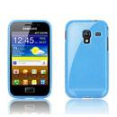 Custodia Samsung S7500 Galaxy Ace Plus Trasparente TPU Silicone Case - Blu