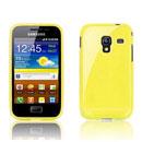 Custodia Samsung S7500 Galaxy Ace Plus Trasparente TPU Silicone Case - Giallo