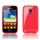 Custodia Samsung S7500 Galaxy Ace Plus Trasparente TPU Silicone Case - Rosso
