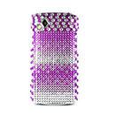 Custodia Samsung S8530 Wave 2 Diamante Bling Cover Rigida - Porpora