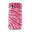 Custodia Samsung S8530 Wave 2 Diamante Bling Cover Rigida - Rosso