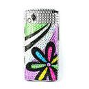 Custodia Samsung S8530 Wave 2 Fiori Diamante Bling Cover Rigida - Misto