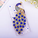 Custodia Samsung S8530 Wave II Pavone Diamante Bling Cover Rigida - Blu