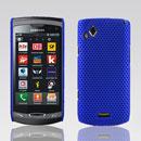 Custodia Samsung S8530 Wave II Rete Cover Rigida Guscio - Blu