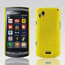 Custodia Samsung S8530 Wave II Rete Cover Rigida Guscio - Giallo