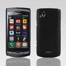 Custodia Samsung S8530 Wave II Rete Cover Rigida Guscio - Nero