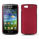 Custodia Samsung S8600 Wave 3 Plastica Cover Rigida Guscio - Rosso