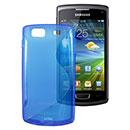 Custodia Samsung S8600 Wave 3 S-Line Silicone Bumper - Blu