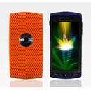 Custodia Sony Ericsson U5i Rete Cover Rigida Guscio - Arancione