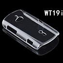 Custodia Sony Ericsson Walkman WT19i Trasparente Plastica Cover Rigida Guscio - Clear