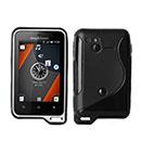 Custodia Sony Ericsson Xperia Active ST17i S-Line Silicone Bumper - Nero