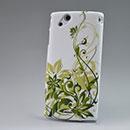 Custodia Sony Ericsson Xperia Arc LT15i X12 Fiori Diamante Bling Cover Rigida - Verde
