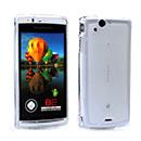 Custodia Sony Ericsson Xperia Arc LT15i X12 Silicone Trasparente Case - Bianco
