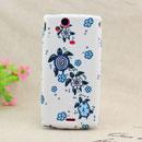 Custodia Sony Ericsson Xperia Arc LT15i X12 Tartaruga Silicone Gel Case - Blu