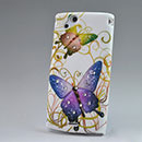Custodia Sony Ericsson Xperia Arc S LT18i Farfalla Diamante Bling Cover Rigida - Misto