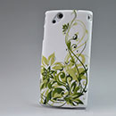 Custodia Sony Ericsson Xperia Arc S LT18i Fiori Diamante Bling Cover Rigida - Verde