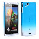 Custodia Sony Ericsson Xperia Arc S LT18i Sfumatura Cover Bumper - Luce Blu
