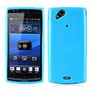 Custodia Sony Ericsson Xperia Arc S LT18i Silicone Silicone Case - Blu