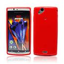 Custodia Sony Ericsson Xperia Arc S LT18i Silicone Silicone Case - Rosso