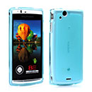 Custodia Sony Ericsson Xperia Arc S LT18i Silicone Trasparente Case - Blu