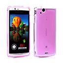 Custodia Sony Ericsson Xperia Arc S LT18i Silicone Trasparente Case - Porpora