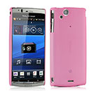Custodia Sony Ericsson Xperia Arc S LT18i Ultrasottile Plastica Cover Rigida Guscio - Rosa