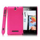 Custodia Sony Ericsson Xperia E Dual Plastica Cover Rigida Guscio - Fucsia